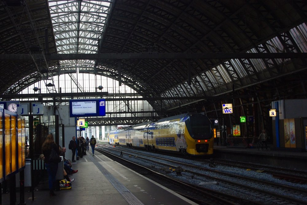 Centraal Station in Amsterdam.