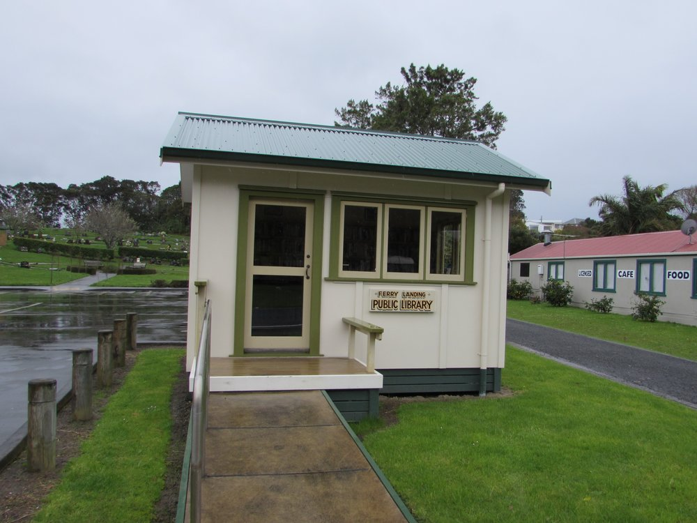 The smallest public library I've ever seen on the Coromandel Peninsula of New Zealand.