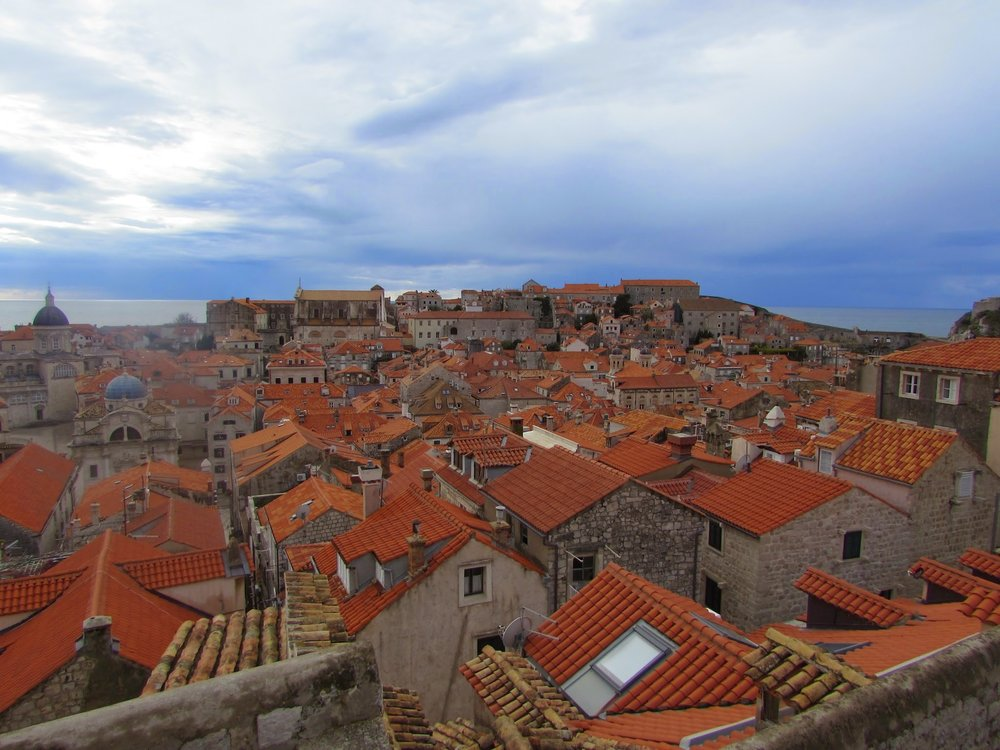 Terra cotta roofs of Old Town Dubrovnik