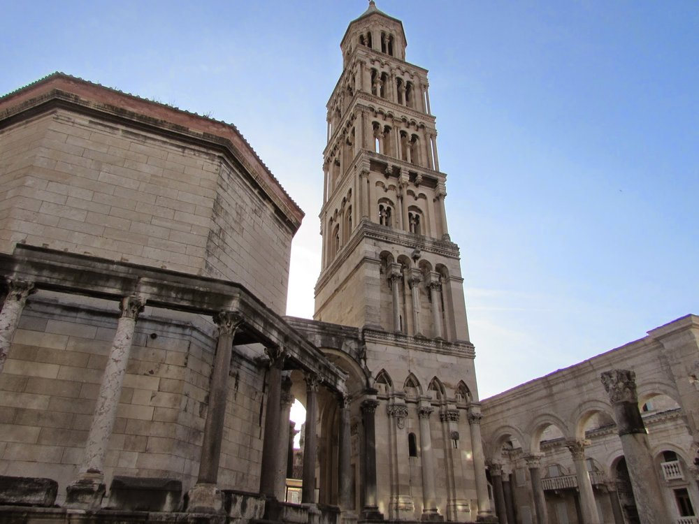 Diocletian's Palace is another impressive example of Roman architecture in Croatia.