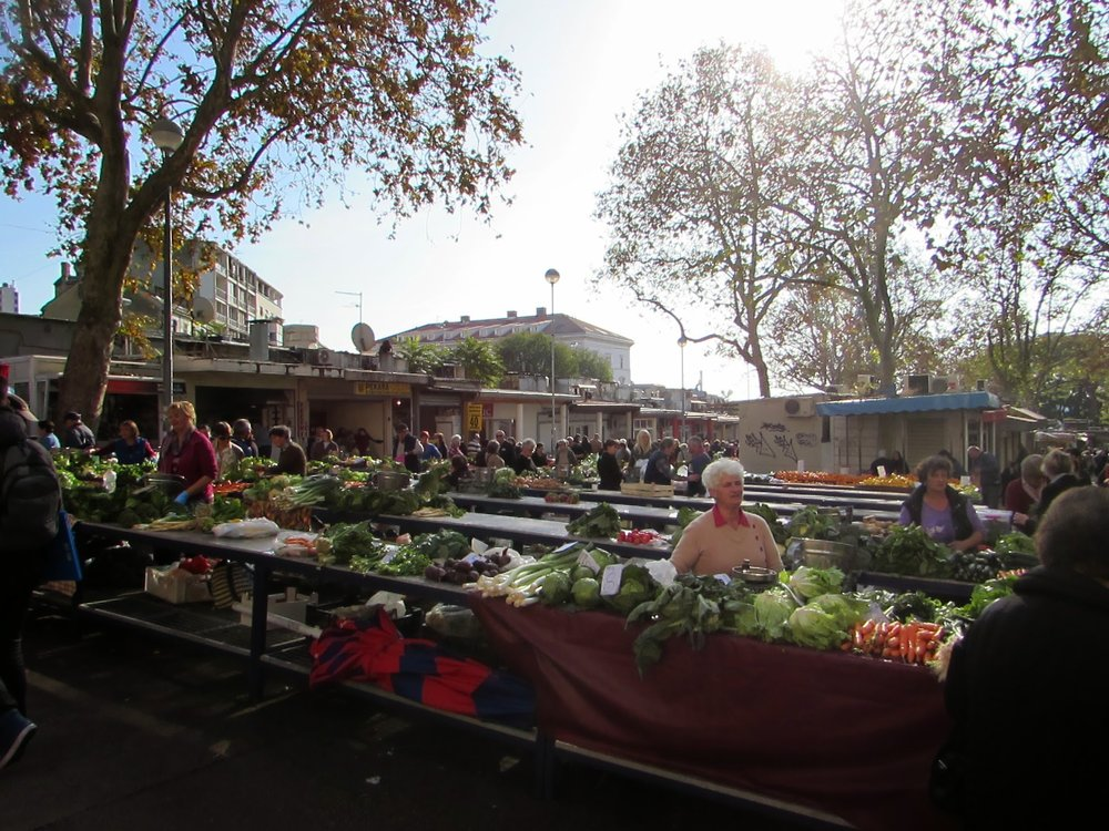 Pazar Market outside Diocletian's Palace, Split