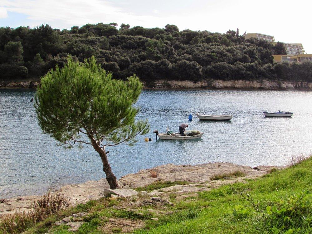 A fisherman in Pula, Istria