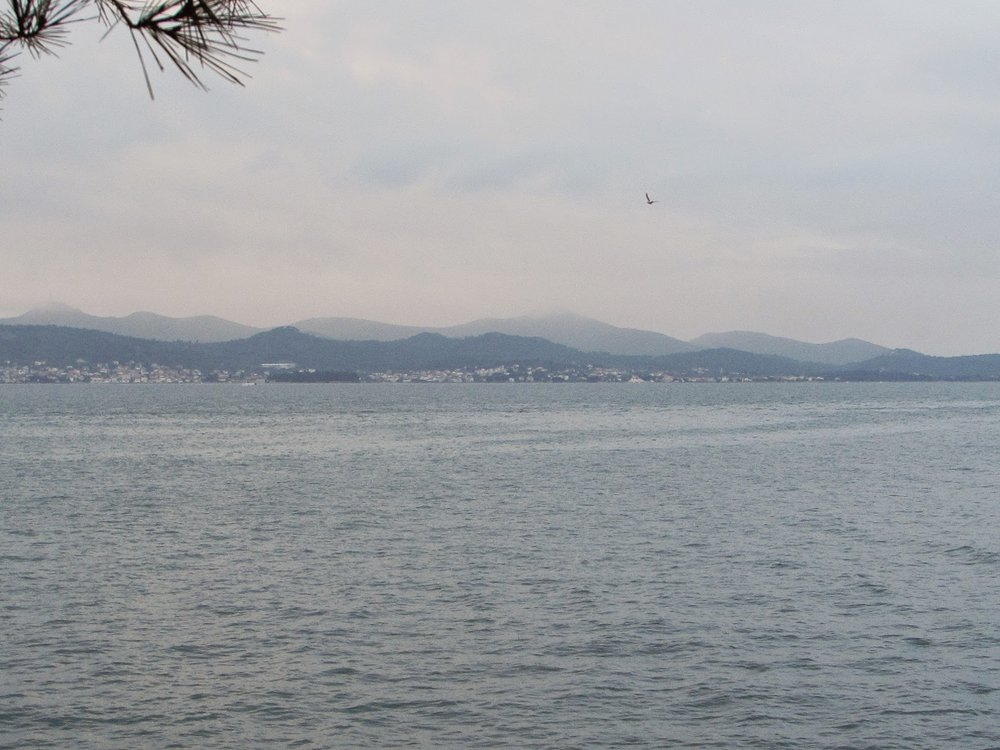 Ugljan Island as seen from Zadar, Dalmatia.