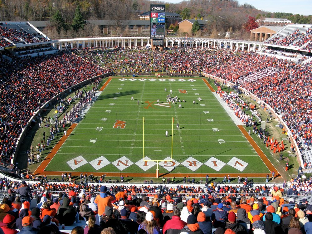 From my photo archives: Virginia vs. Clemson in 2008 as seen from the nosebleed section.
