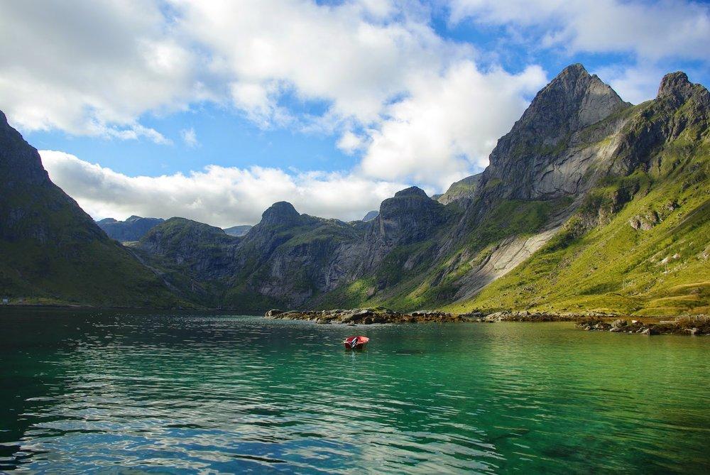 Stunning turquoise Bunesfjord.