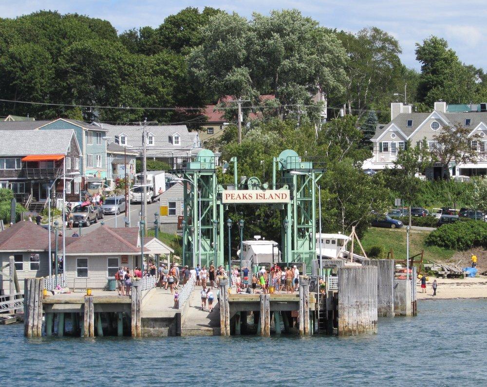 Peaks Island Ferry Landing.