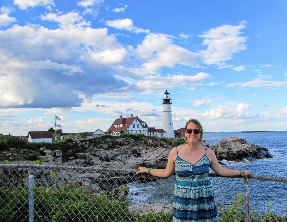 Me being a dork at the Portland Head Light.
