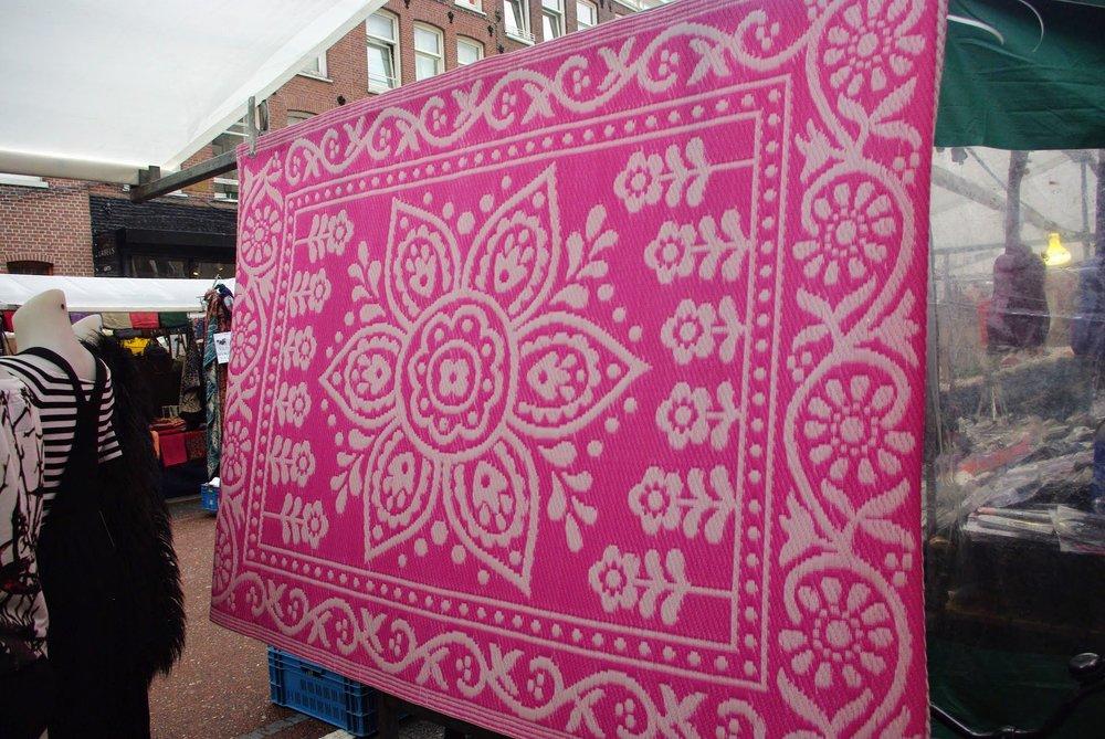 Rug for sale, Albert Cuyp Market, Amsterdam, The Netherlands