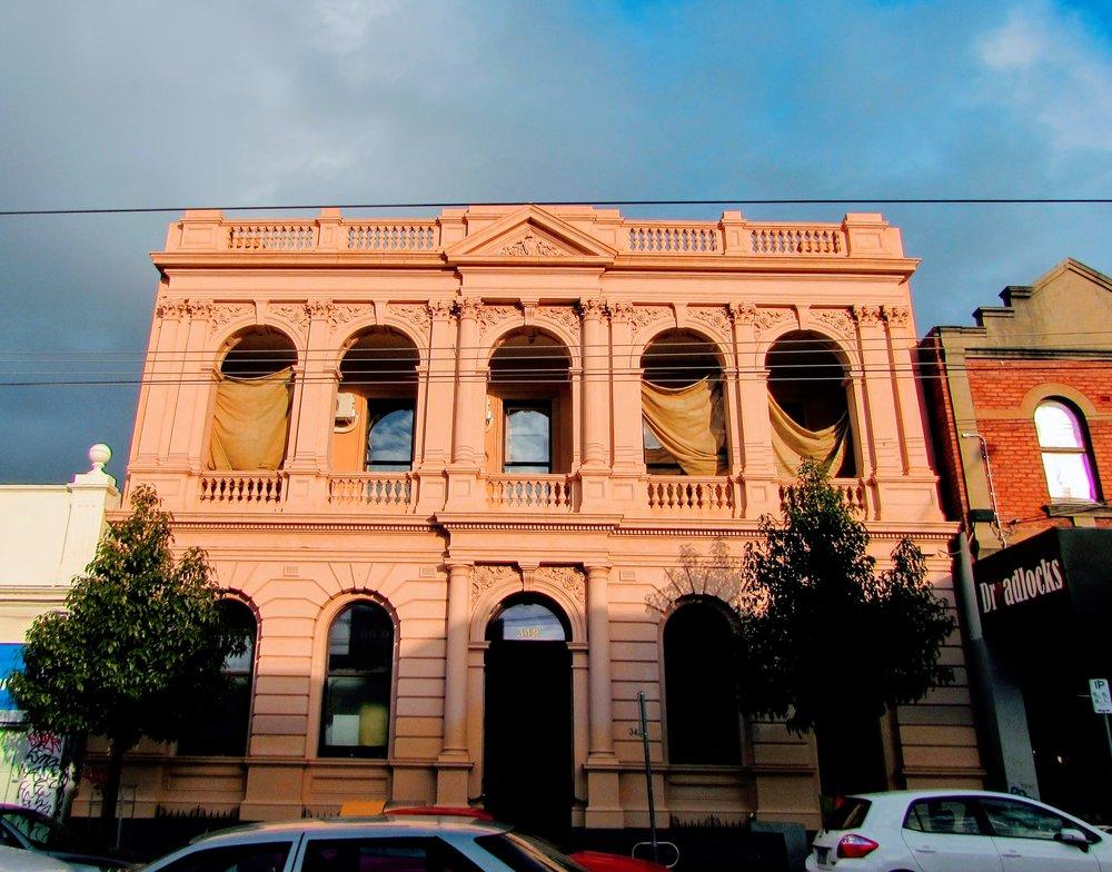 Pink building, Northcote, Melbourne, Australia