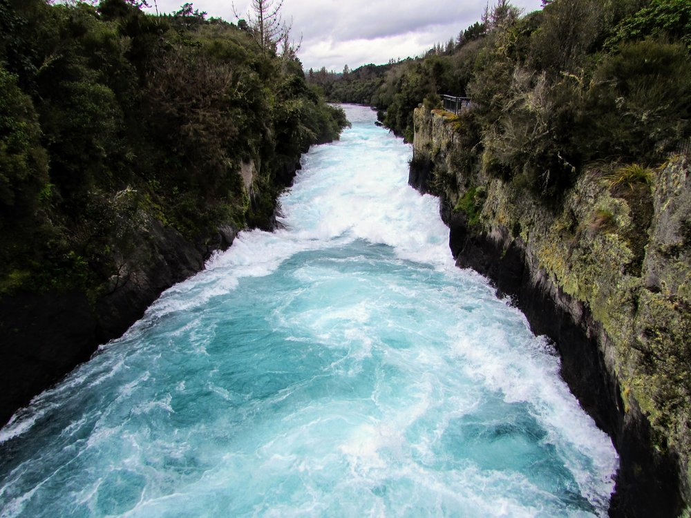 huka falls / taupo, new zealand