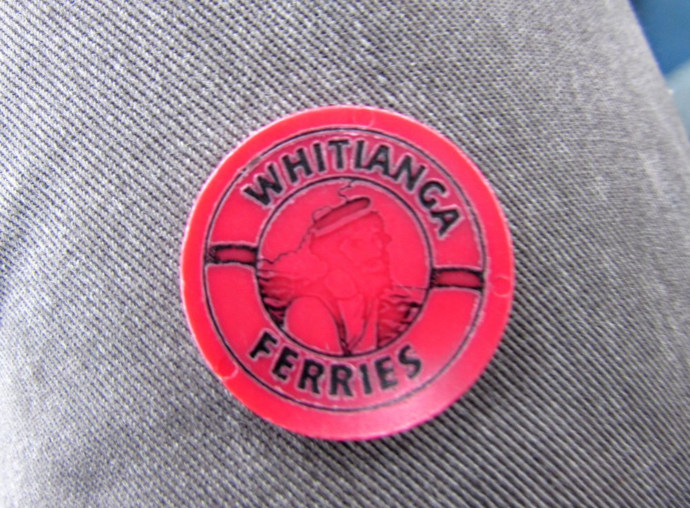 Well-worn ferry token - Whitianga, New Zealand