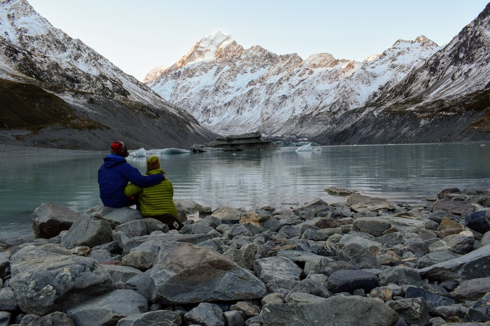 Waiting for the evening alpenglow on New Zealand's Mount Cook.