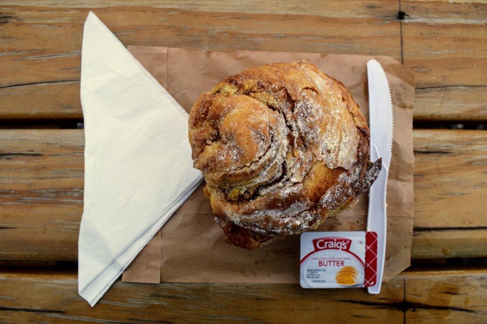 A super scrumptious cinnamon scroll from Armando's Kitchen.