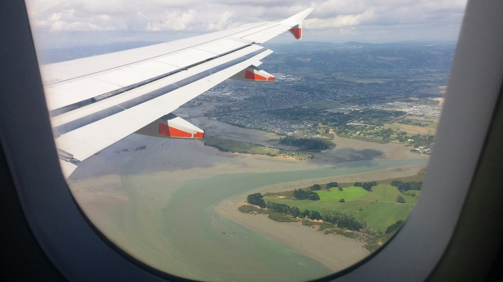 View from the Christchurch-Auckland flight to see C.J. in February 2017.