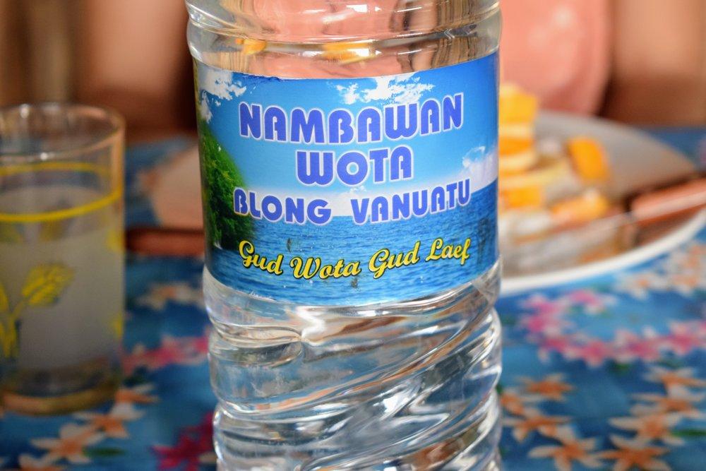 The number one water of Vanuatu! Good Water, Good Life!