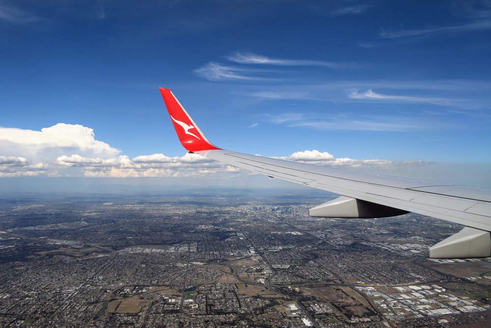 Melbourne as seen from our flight with Qantas last month.