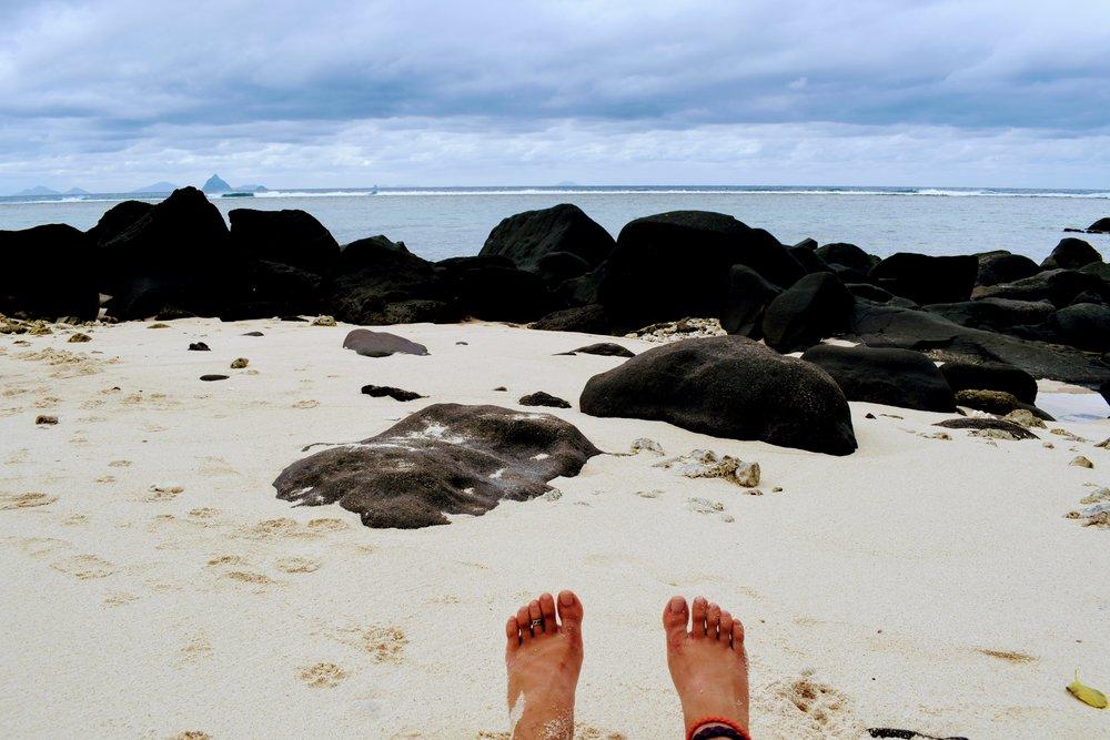 July 12, the rocky side of  Pele Island.