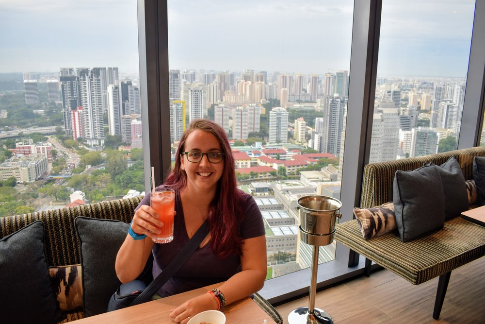 A Singapore Sling at the Courtyard Marriott Rooftop Bar.... Because 'when in Singapore,' right?