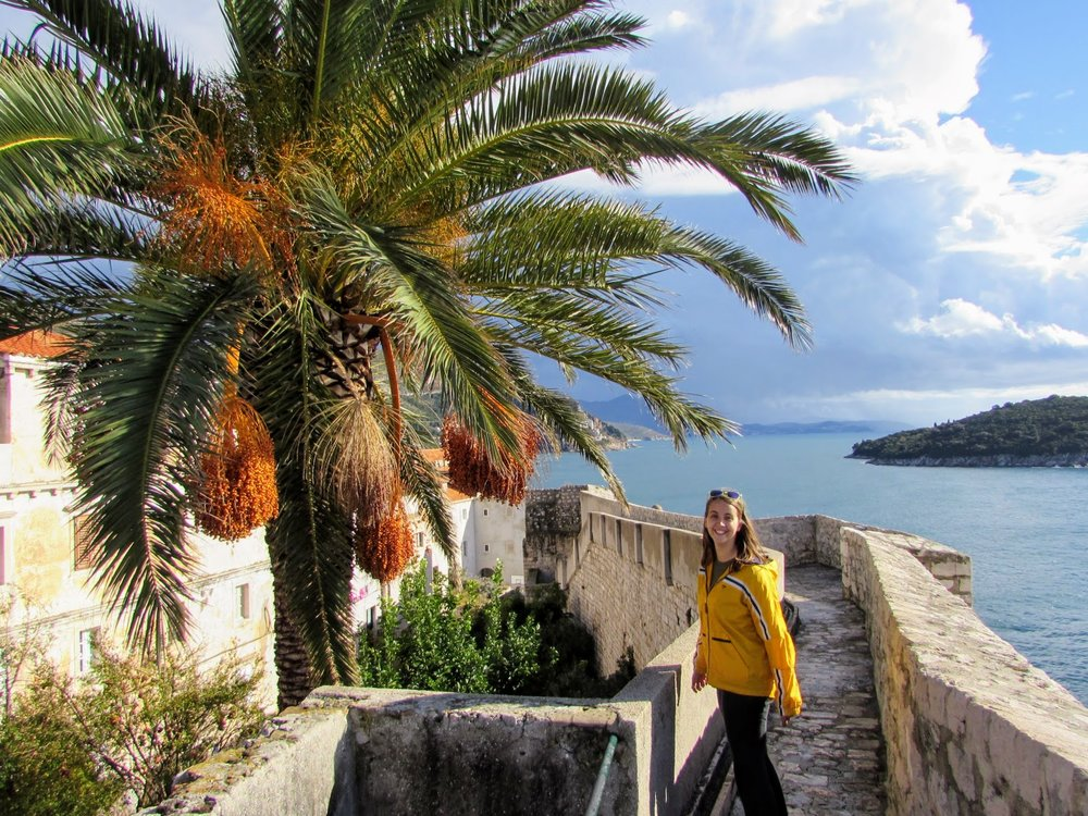 Soaking up the sunshine and the views in Dubrovnik, Croatia.