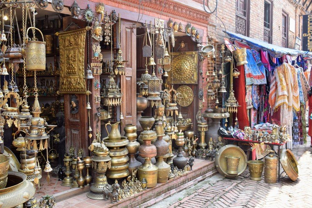 brass souvenirs bhaktapur nepal