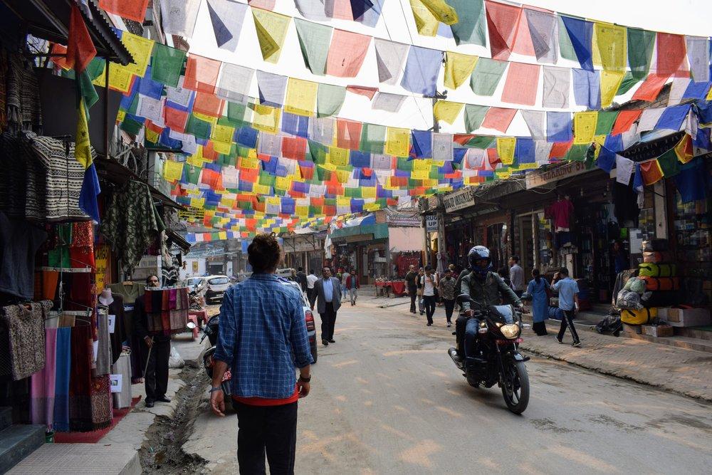 streets of thamel kathmandu