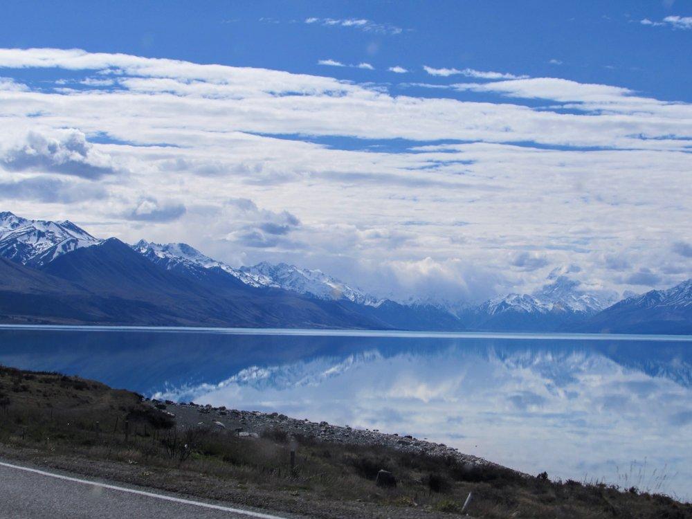Lake Pukaki as seen from SH8.