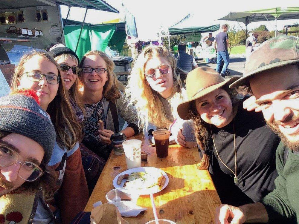 From left to right: Emmett, me, Kate, Aleks, Julia, Joanna, & Logan