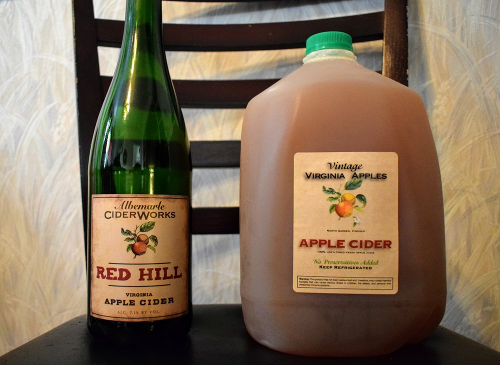 My two favorite products from Albemarle Ciderworks.