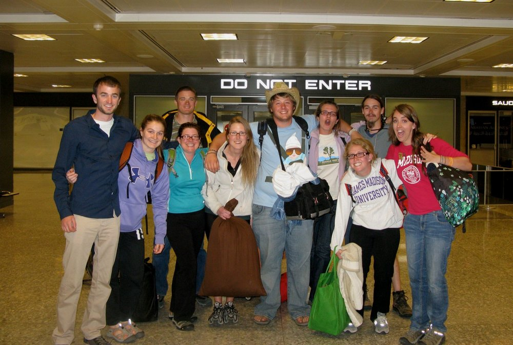 The Alternative Spring Break crew that I co-led during Spring Break of my sophomore year in 2011. (I'm in pink on the far right).