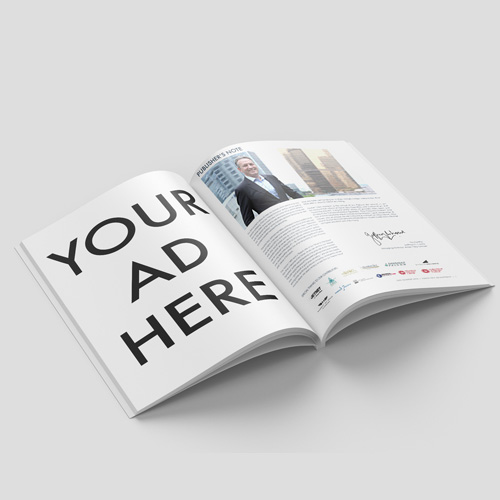 FULL-PAGE ADVERTISEMENTS   Advertise your company's services and reach with a well-positioned ad insert.