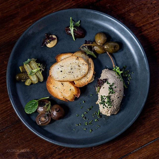 Yes we are open all long weekend ( excluding Monday night dinner). Lots of fabulous new dishes on our new Autumn Menui clouding this duck liver pate with warm baguette, pickles, mustard, onion and sweet jam.  Perfect to share.  Pic thanks to the super talented @_andrea_jacob_