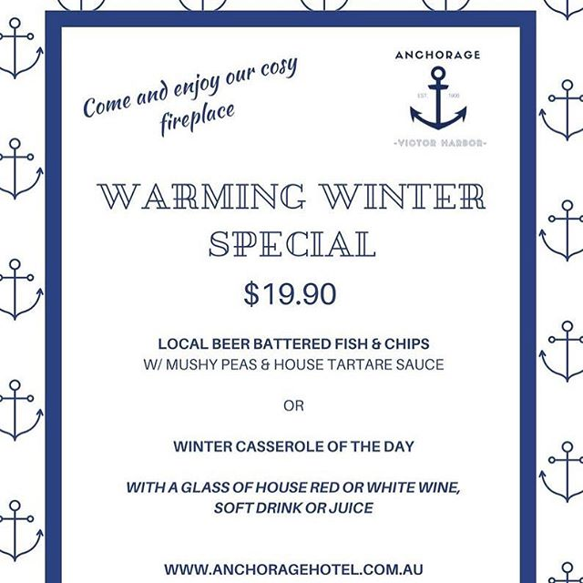 Our new winter lunch special starts tomorrow! #lunch #lunchbythesea #lunchbythefire #fishandchips