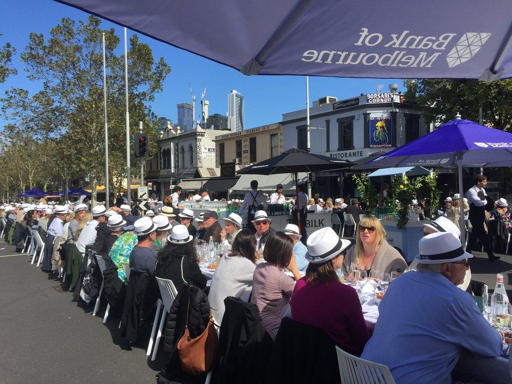 MELBOURNE FOOD + WINE FESTIVAL, WORLD'S LONGEST LUNCH CARLTON