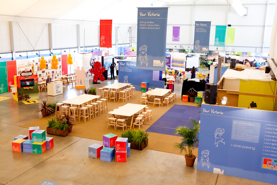 VICTORIAN GOVERNMENT PAVILION AT THE ROYAL MELBOURNE SHOW