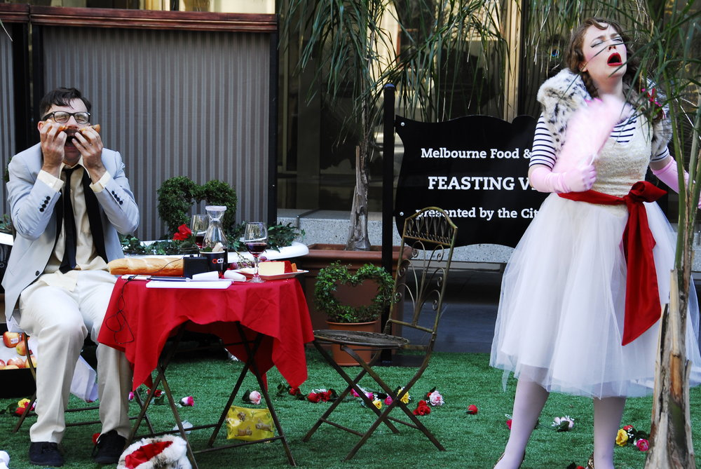 Feasting Vignettes  - pop-up event activations in Melbourne CBD