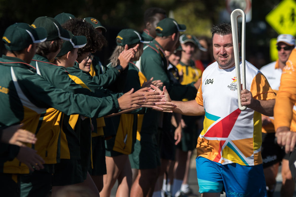 THE COMMONWEALTH GAMES / QUEENS BATON RELAY