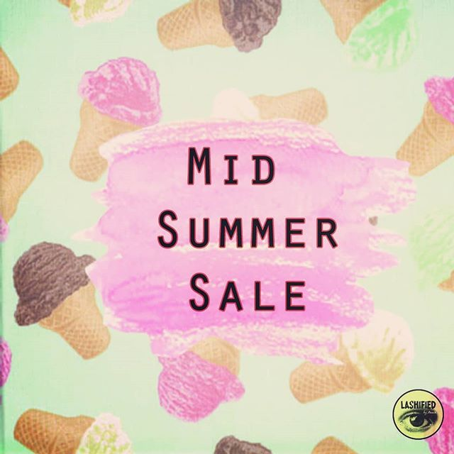 Our mid summer sale is back until July 31st. Save on all lash appointments and all after-care products. Yasss queen! That means more lashes for you and more ice cream too 🍦