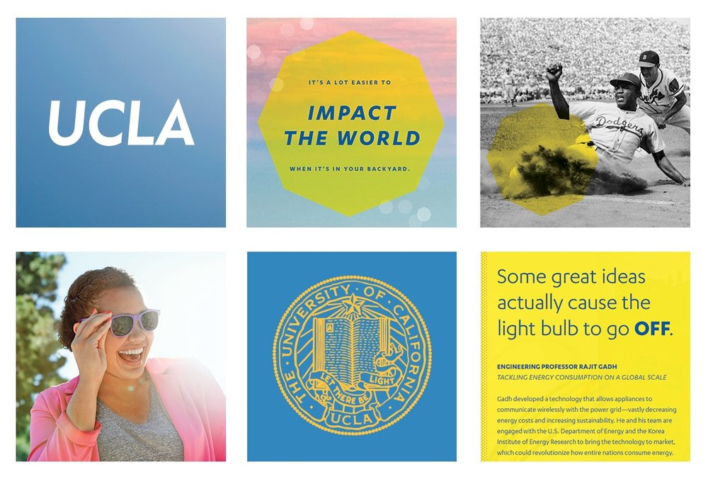 From the University of California Los Angeles  brand overview page