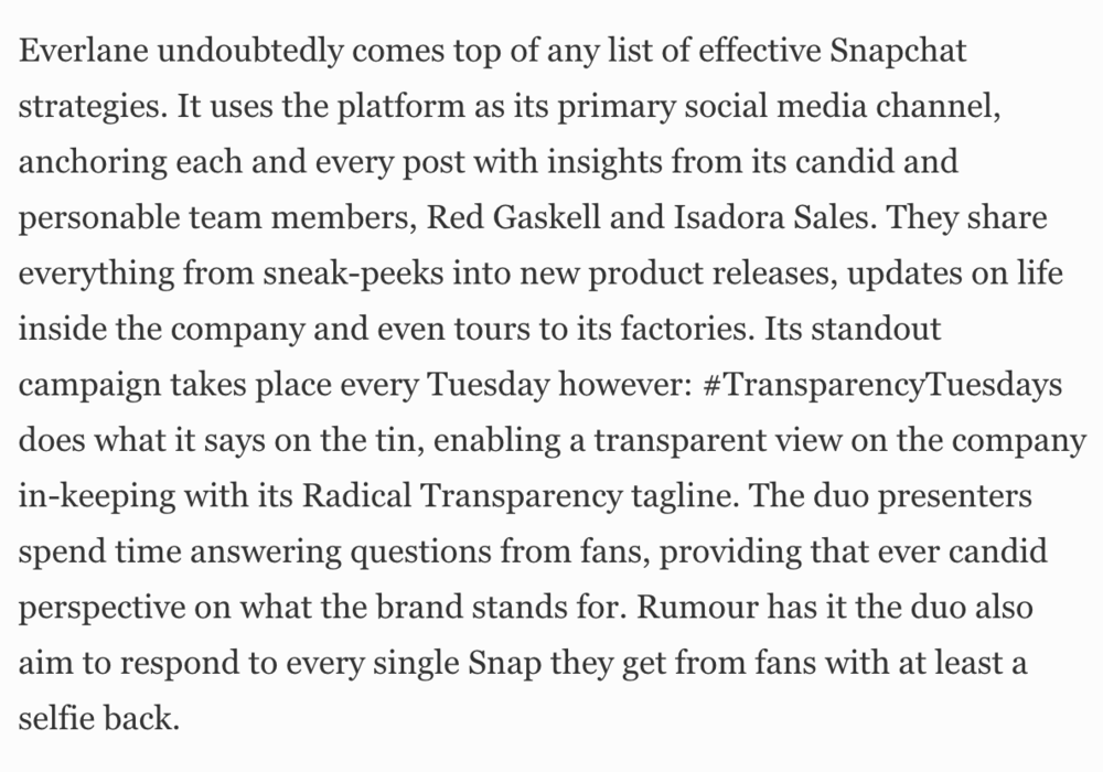 10 Fashion Brands Nailing Their Snapchat - Forbes, 2016