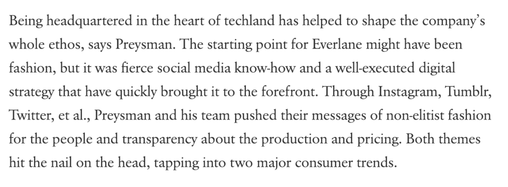 How Everlane Succeeded by Acting Like a Tech Company - Vogue, 2014