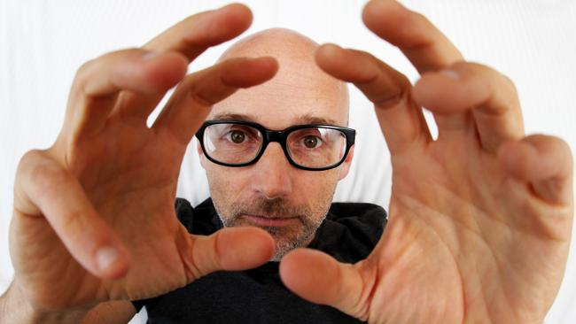 Moby is in Sydney to promote his new album Innocents. Picture: Adam Taylor Source: News Limited