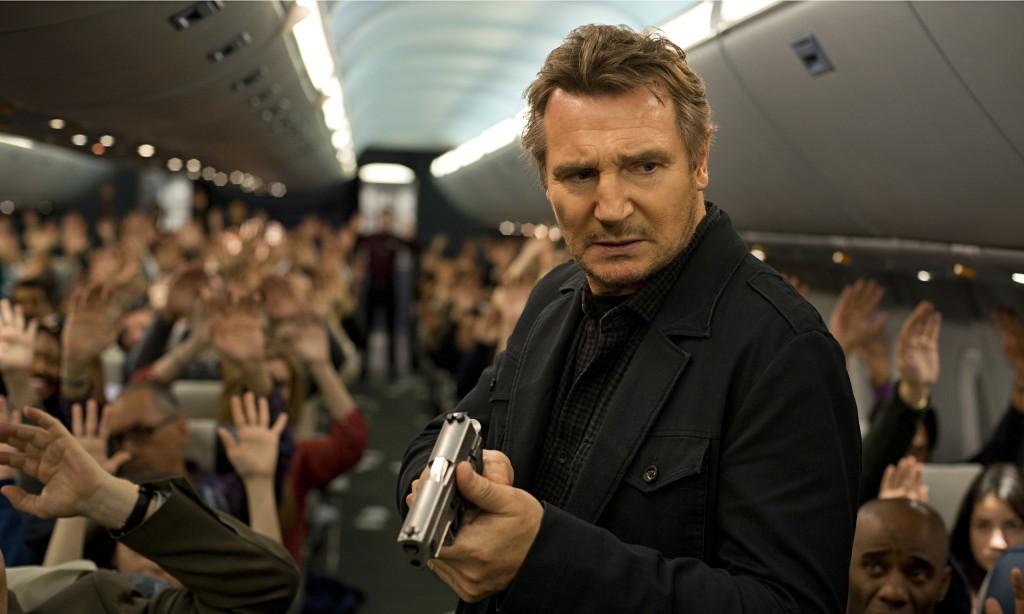 Liam Neeson in Non-Stop.