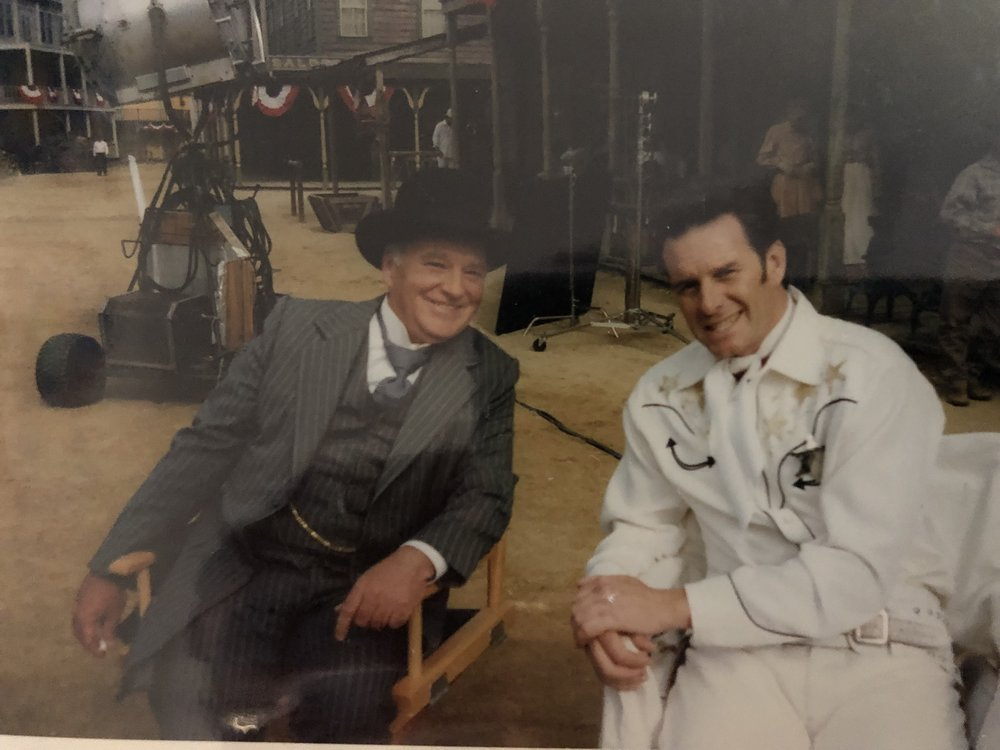 """Brian Doyle-Murray and Stephen Kearney on the set of """"Pistol Pete"""""""