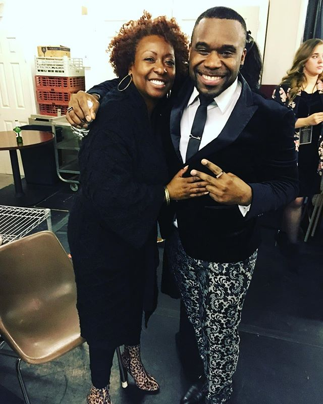 So last night I got to officially meet and hang out with one of my favorite singers on the planet! I've been listening to this woman's amazing voice since i was a little kid. She has sang with everyone out there but most notably, Donnie Mcclurkin, and she was one of the singers that sang Great is Your Mercy! Sherry McGhee, thank you so much for accepting my invitation. Im glad you had a great time at my show and I look forward to seeing you again! #pmjtour #lavancecolley #sherrymcghee #newfriend