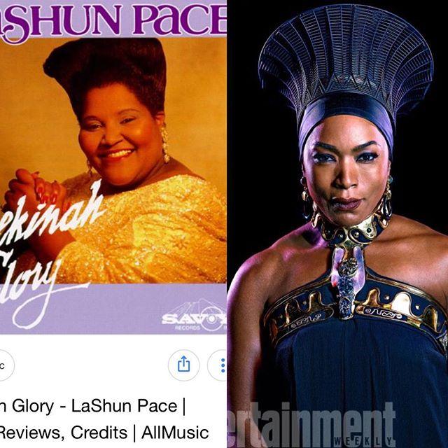 Lashun Pace new about Wakanda before everybody! That's probably why SANGS the was she do! She got vibranium in her throat! 😆 #wakandaforever #wakanda #angelabassett #lashunpace