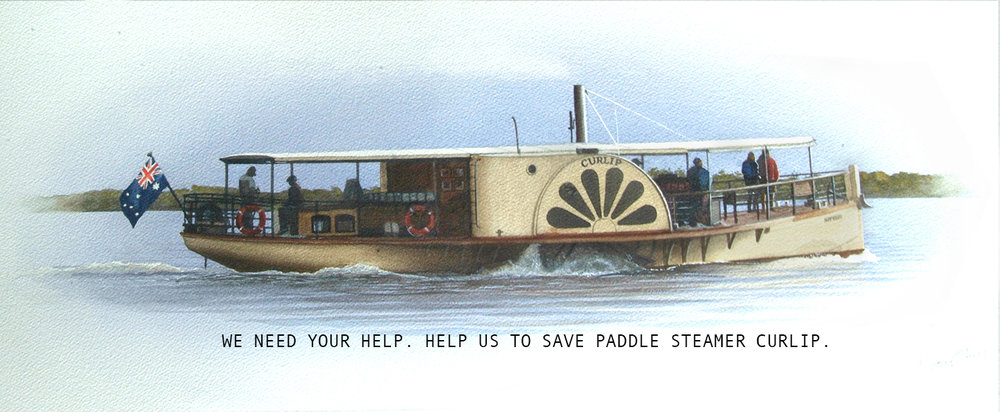 Visit www.curlip.com.au to make a donation our join as a member of Paddle Steamer Curlip.