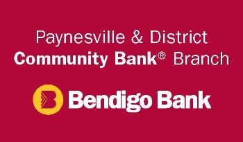 The Paynesville and district Community Bank, a branch of the Bendigo Bank. Thank you for your kind community support grant. Telephone the manager Ken Mutton on (03) 5156 6655. https://www.bendigobank.com.au/public/locate-us/branch-details?id=9354