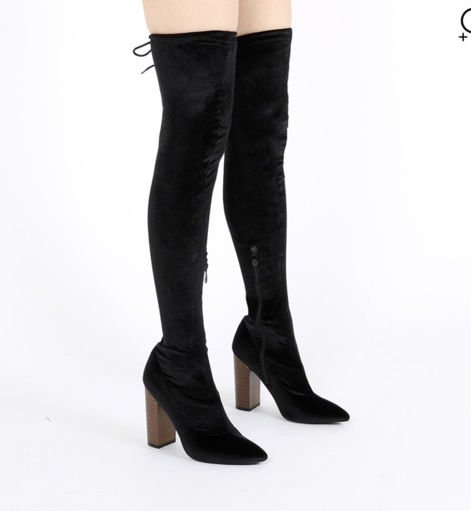 Black Velvet Boots ($39) - Click on Image to Shop