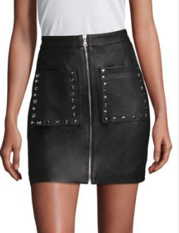 Joe's Ruby Leather Skirt - Click on Image to Shop