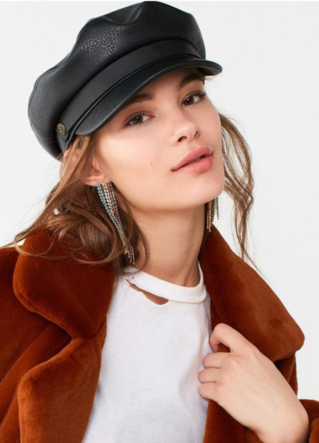 Britton + UO Fiddler Haux Leather Fisherman Hat
